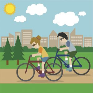 man-and-woman-cycling-good-health